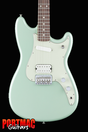 Fender Duo-Sonic HS Surf Green Offset Electric Guitar