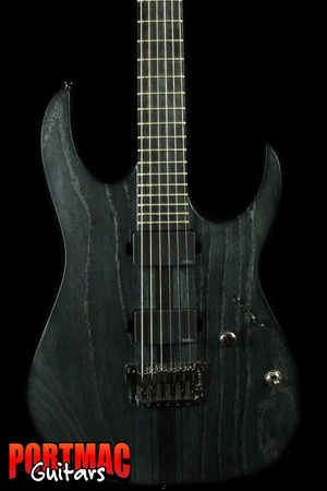 Ibanez RGIT20FE Iron Label Neck Thru Trans Gray Flat Electric Guitar