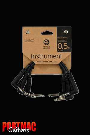 "Planet Waves Classic Series 6"" Patch Cables 3pk"