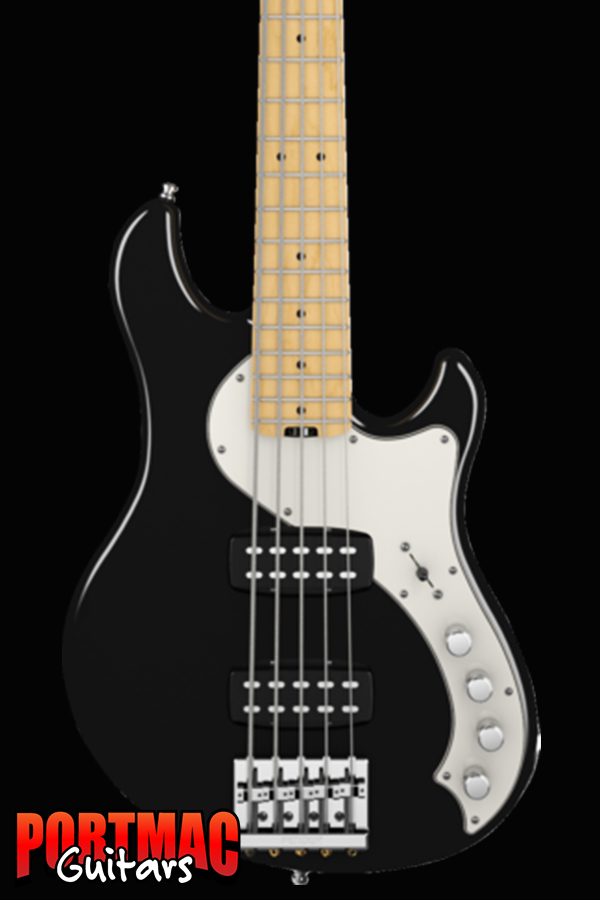 Fender American Deluxe Dimension Bass V HH [Colour: Black Maple]