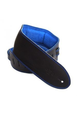 DSL GES35 Black with Padded Suede Backing [Colour: Black/Blue]