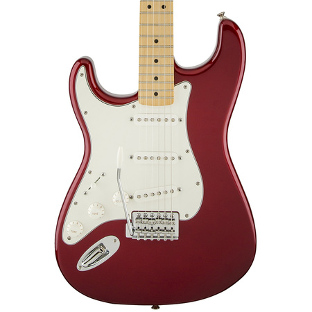 Fender Standard Stratocaster SSS Left Handed Candy Apple Red Maple Fretboard
