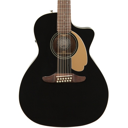 Fender Villager Black 12-String Walnut Fingerboard V3 Acoustic Guitar