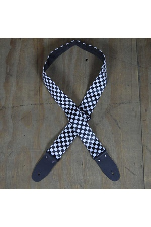 Colonial Leather Checker Ragstrap - White/Black