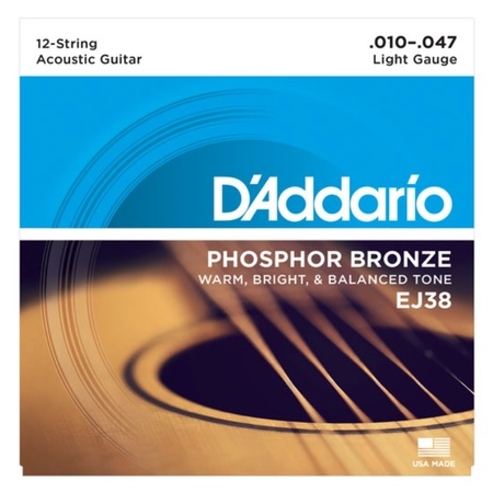 D'Addario Acoustic EJ38 10-47 PB 12 Strings Set