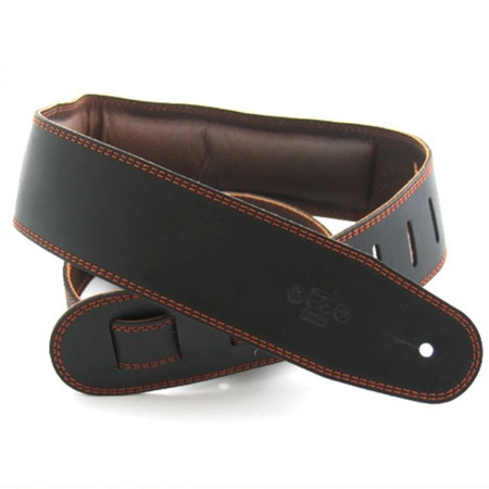 DSL GEG25 Padded Leather Black/Brown Strap