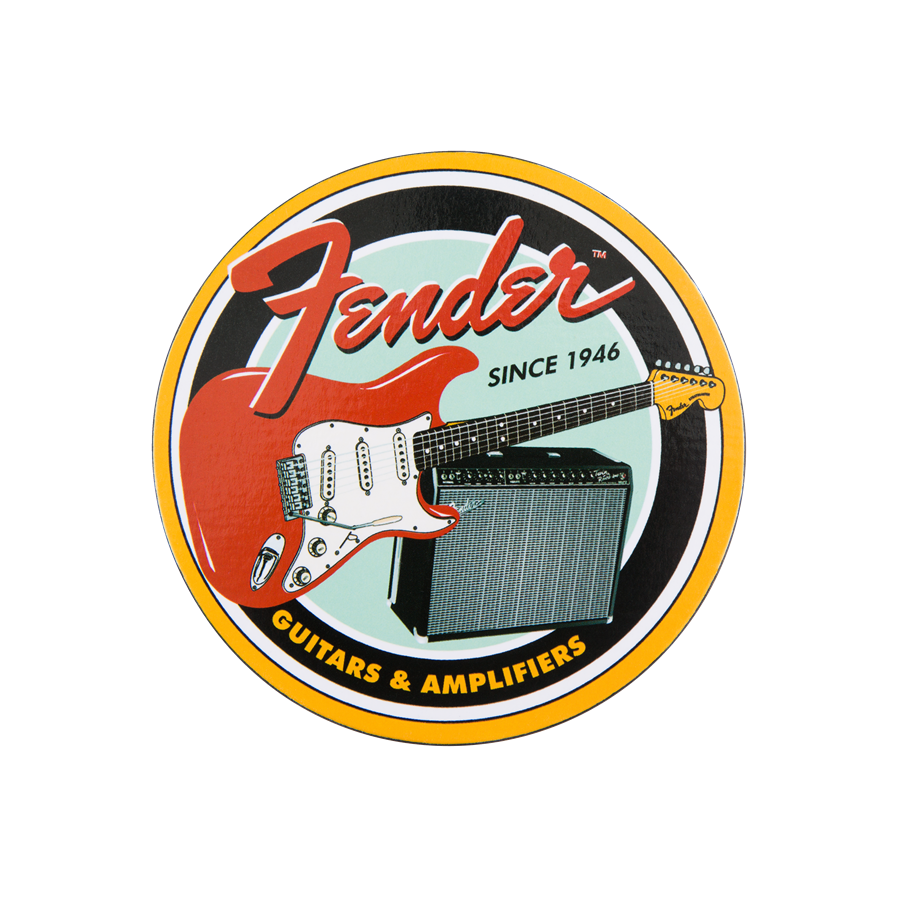 Fender Vintage Guitar and Amp Coaster Set